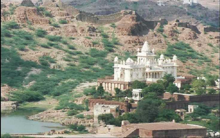 Jaswant Thada Aerial View Jodhpur