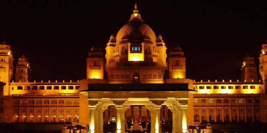 Umaid Bhawan Night View